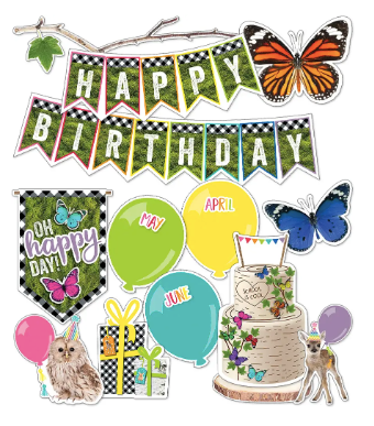 Woodland Whimsy Birthday Bulletin Board