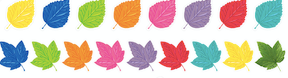 Schoolgirl Style - Woodland Whimsy Colored Leaves {UPRINT}