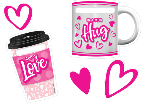 {Valentine's Day} Coffee Cup and Mug Cut-Outs