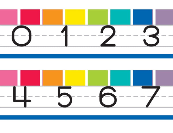 Hello Sunshine Rainbow Number Line