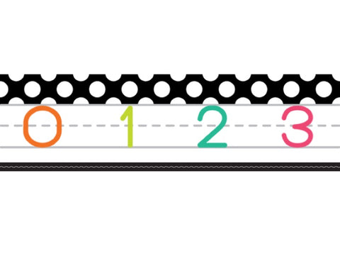 Black, White and Stylish Brights Number Line (Black)
