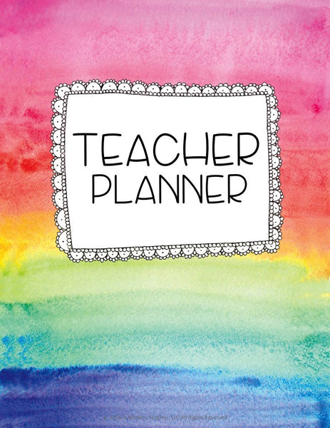 Color My Classroom Digital Teacher Planner and Classroom Organizer