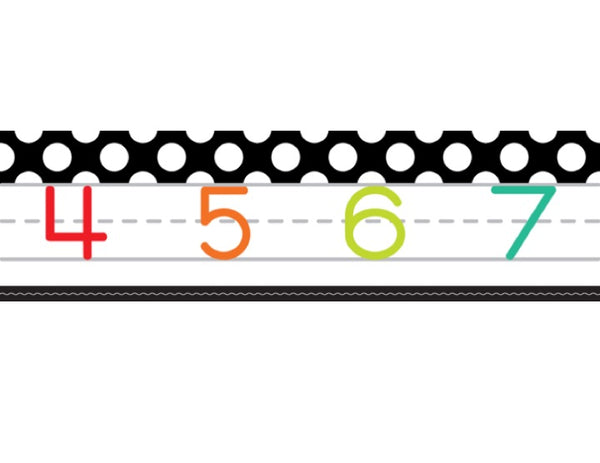 Black, White and Stylish Brights Number Line (Black) {U PRINT}