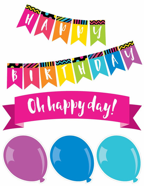 Just Teach NEON - Birthday Bulletin Board Set {UPRINT}