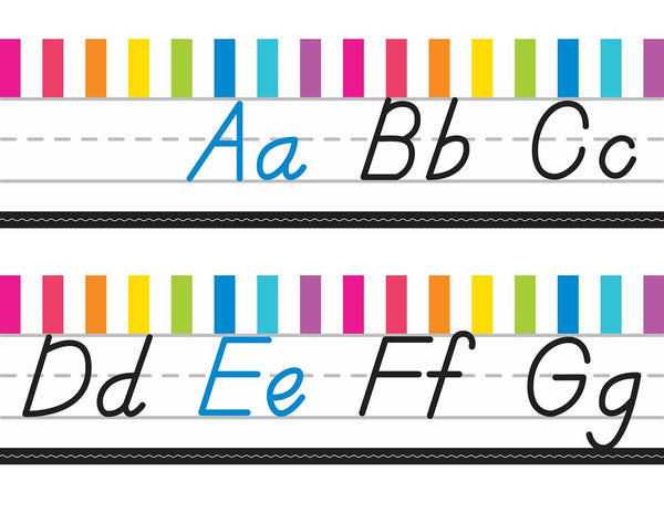 Just Teach - Alphabet Lines  - D'Nealian NEON {UPRINT}