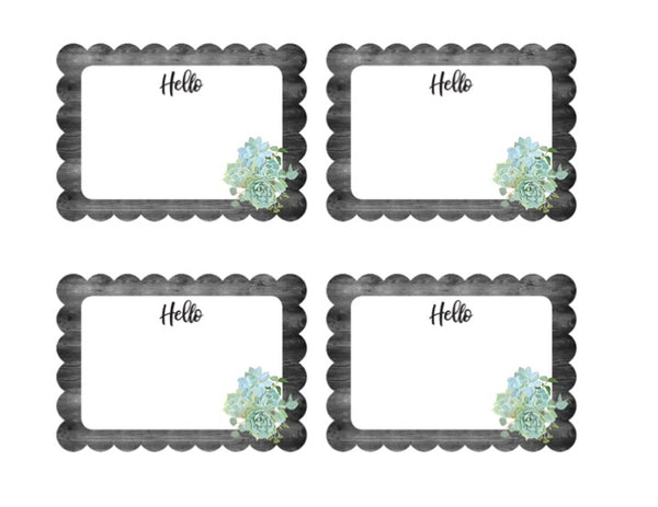 Simply Stylish -  Name Tags