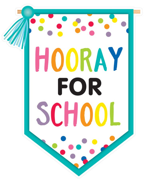 Just Teach Rainbow - 'Hooray for School' Banner