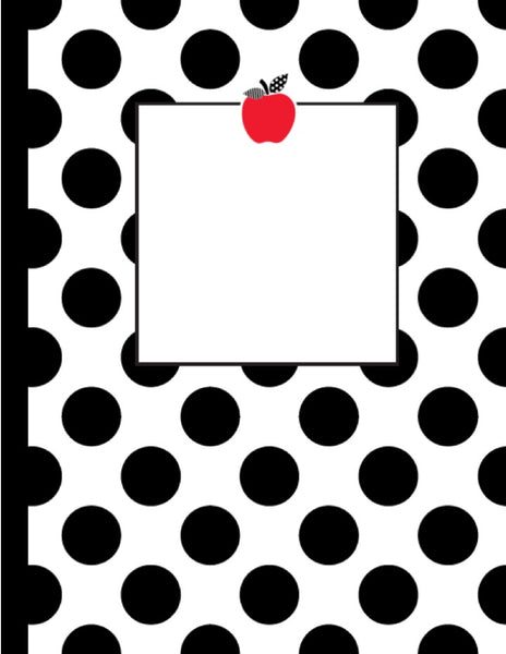 Black, White and Stylish Brights Binder Covers & Spines