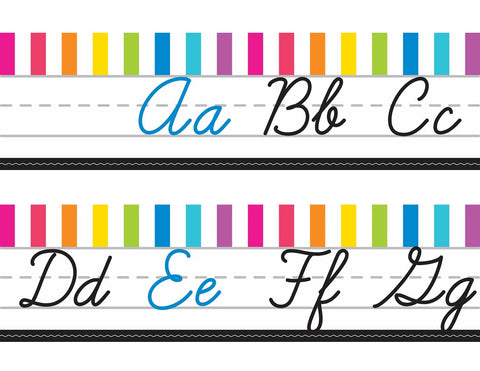 Just Teach - Alphabet Lines  - Cursive NEON {UPRINT}