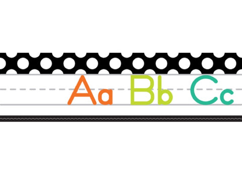 Black, White and Stylish Brights Alphabet Line Manuscript (Black)