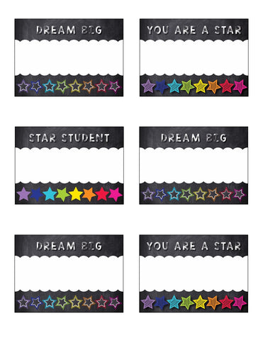 Twinkle Twinkle, You're a Star -  Inspirational Name Tags