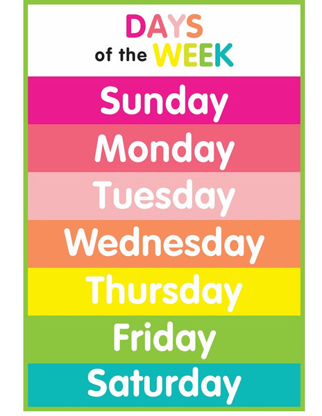 Just Teach Simply Stylish Tropical - Days of the Week Resources!