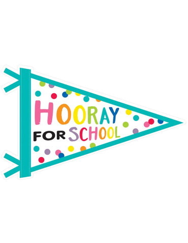 Just Teach Rainbow - 'Hooray for School' Pennant Banner