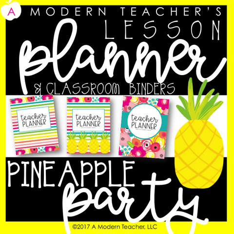Pina Colada Pineapple Party - {DIGITAL Teacher PLANNER and ORGANIZER}