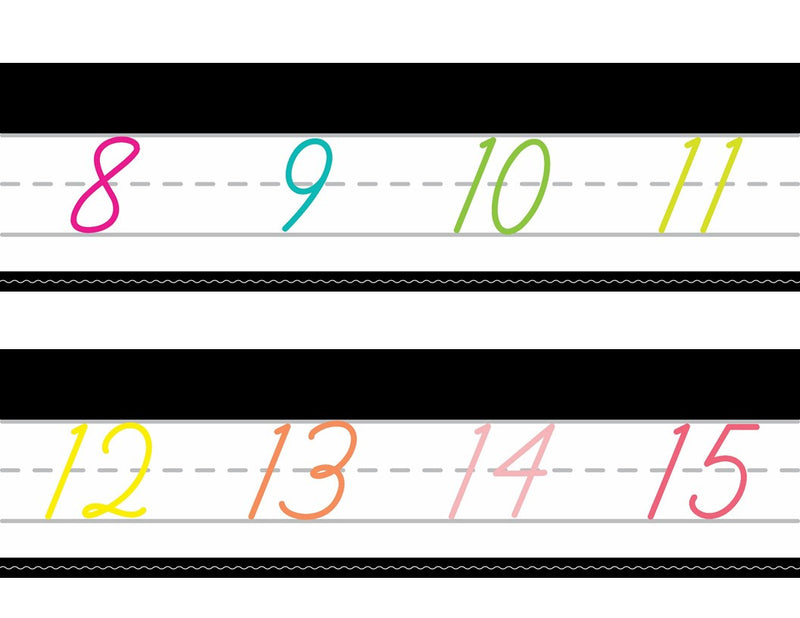 Schoolgirl Style - Just Teach Simply Stylish Tropical Cursive Number Line {U PRINT}