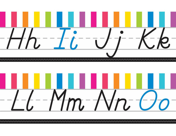 Just Teach - Alphabet Lines  - D'Nealian NEON