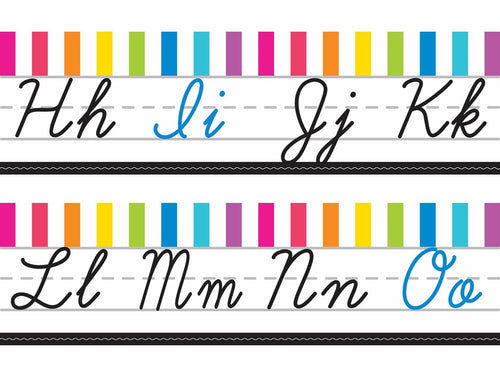 Schoolgirl Style - Just Teach Alphabet Lines Cursive NEON {UPRINT}