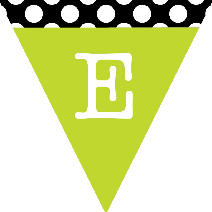 Schoolgirl Style - Black, White and Stylish Brights Pennant Banner {U PRINT}