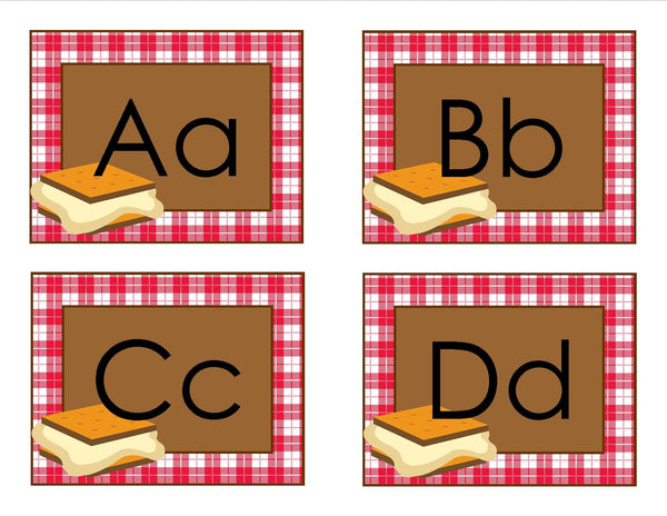 Camp Learn-A-Lot S'more Word Wall Labels