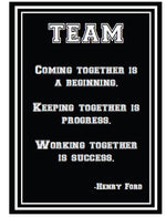 Totally Teamwork Inspirational Print {UPRINT}
