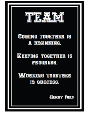 Totally Teamwork Inspirational Print