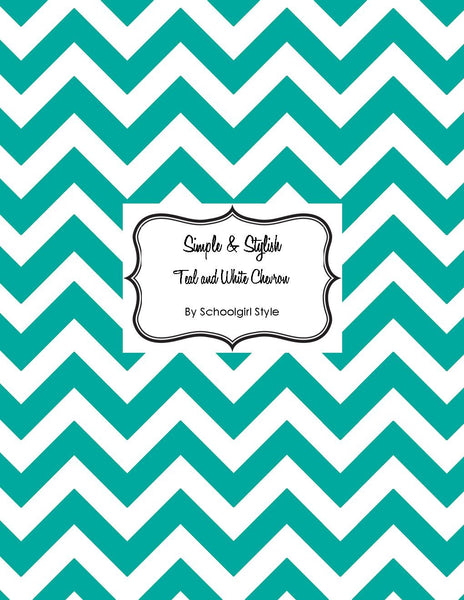 Chevron Chic - Teal