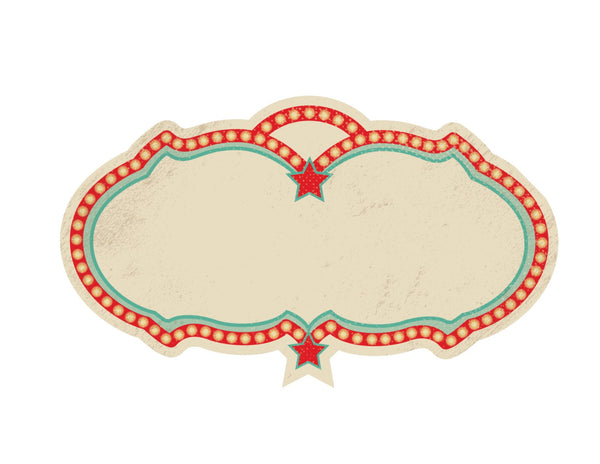 Vintage Circus -Marquee Editable Cutouts