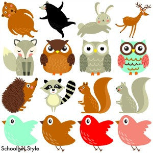 Woodland Animals Cut Outs - Animals