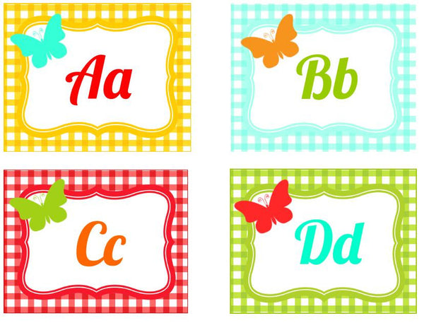Garden Party Word Wall Labels