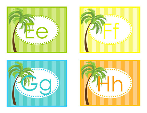 Luau Word Wall Labels