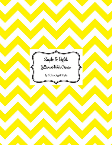 Chevron Chic - Yellow