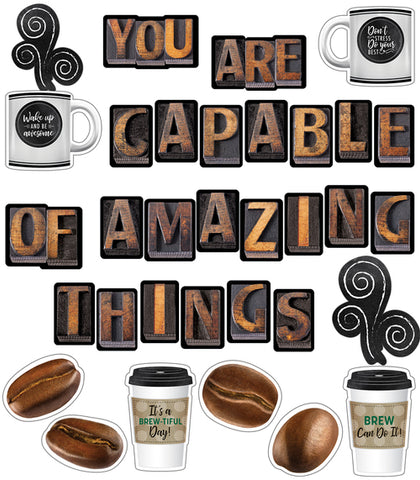 Industrial Cafe 'You are Capable of Amazing Things' Bulletin Board Set {U PRINT}
