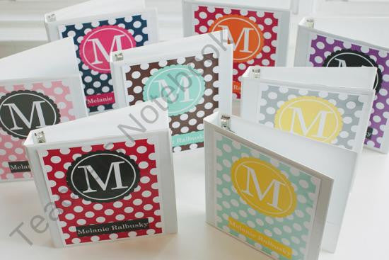 Polka Dot Binder Covers
