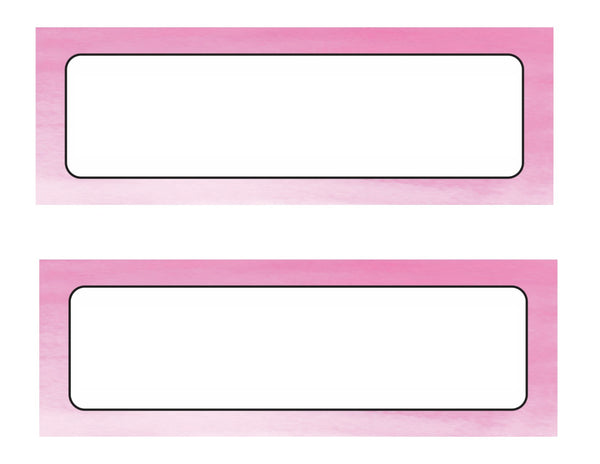 Color My Classroom - Watercolor Nameplates {UPRINT}