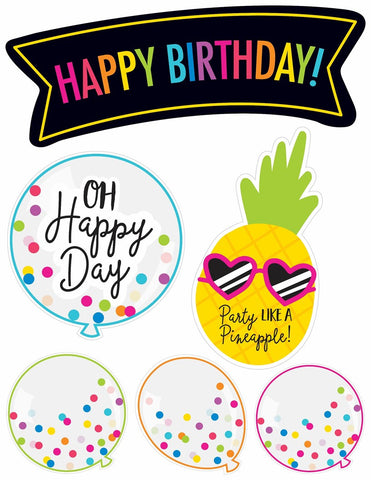 Neon Pop - Birthday Bulletin Board Set