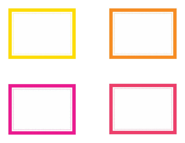 Just Teach - Classroom Library Labels NEON