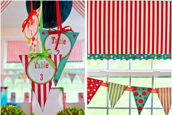 Carnival Table Pennants
