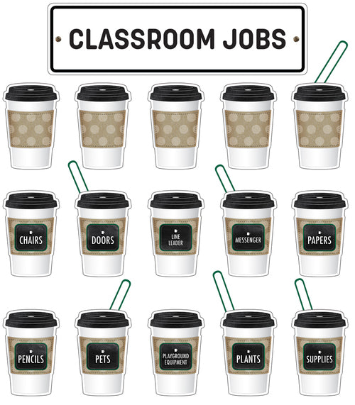 Industrial Cafe Classroom Jobs Mini Bulletin Board Set {U PRINT}