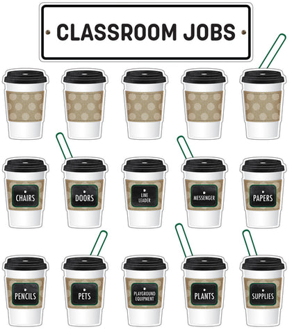 Industrial Cafe Classroom Jobs Mini Bulletin Board Set