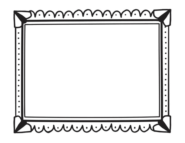 Color My Classroom - Large Doodle Art Frames