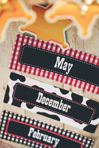 Wild Wild Western Calendar Headers {UPRINT}