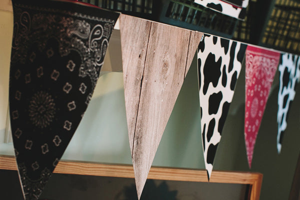 Wild Wild Western Pennants {UPRINT}