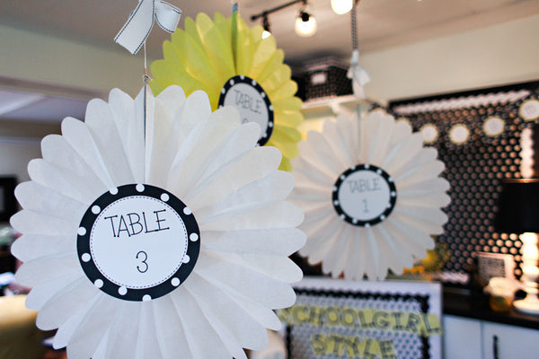 Polka Dot Table/Center Signs