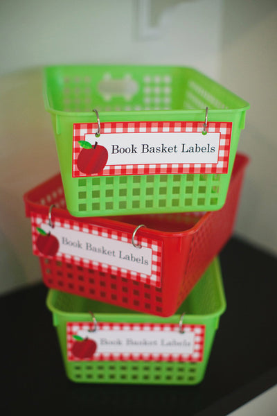 Teacher's Pet Book Basket Labels