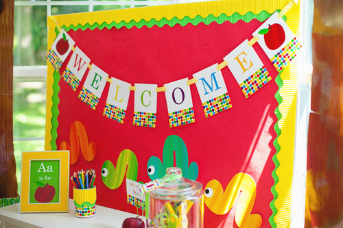 Primary Apple Banner Letters {UPRINT}