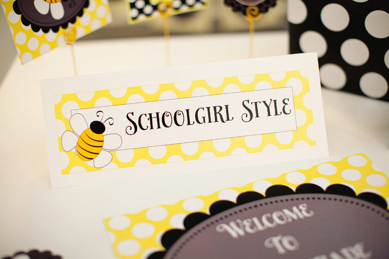 Happy Honeybee Nameplates {UPRINT}