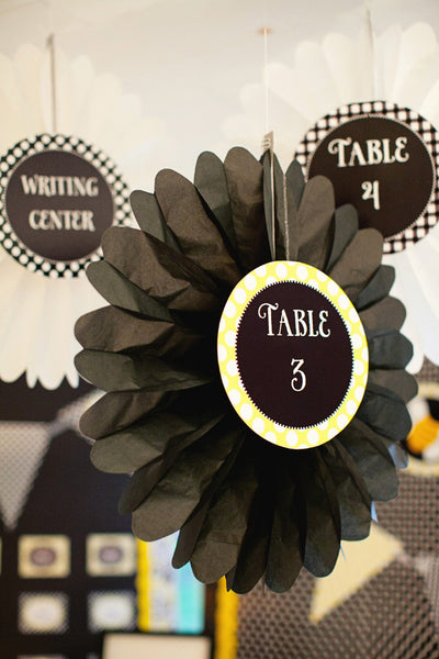 Happy Honeybee Table/Center Signs