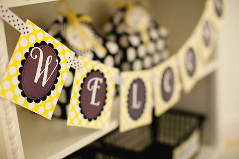 Happy Honeybee Banner Letters