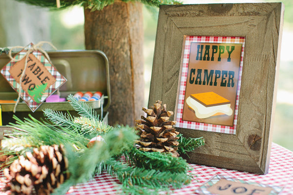 Happy Camper Inspirational Print