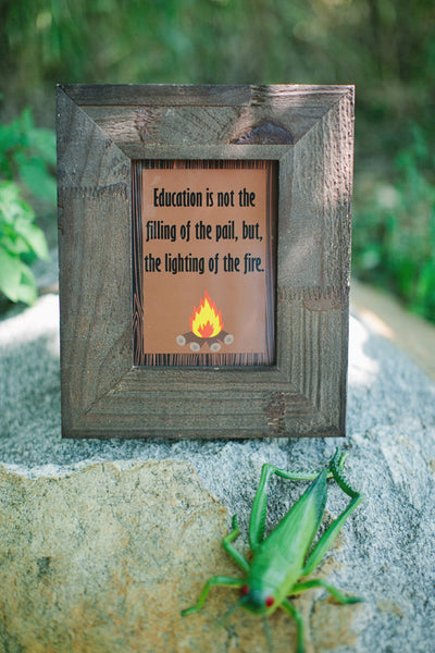 Camp Fire Inspirational Print